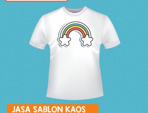 """Jasa Sablon Kaos Desain Bebas """" Pelangi """""""
