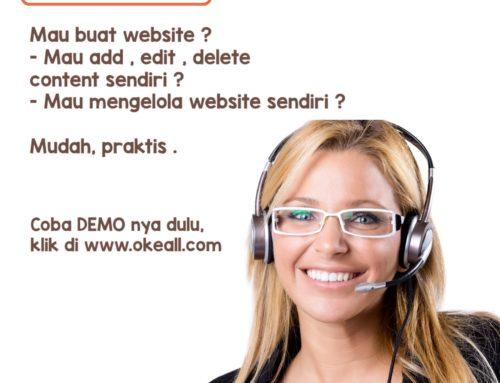 Demo Website Di JualON.com, Masuk Ke Admin Untuk Add,Edit,Delete Content.